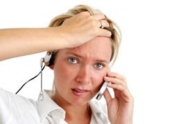 estrés en el trabajo por centralitas colapsadas