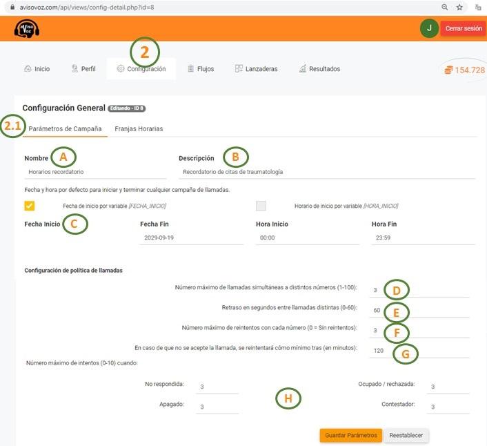 configuración software de avisovoz paso 4